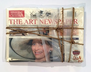 Wrapped The Art Newspaper by Christo