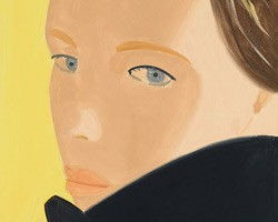 Alex Katz, Nicole (black coat), 2016