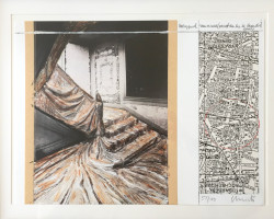 Wrapped Staircase, (Project for rue de Paradis) by Christo & Jeanne-Claude
