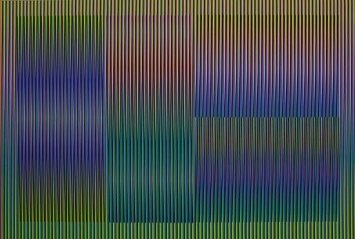 Carlos Cruz-Diez, Color Aditivo Cantarrana 3, 2016