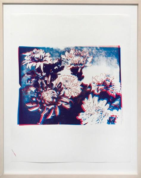 Andy Warhol, Kiku Flowers (Red/Blue) FS II.309, 1983