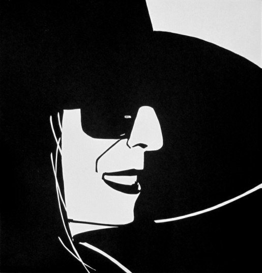 Alex Katz, Black Hat Ada, 2012