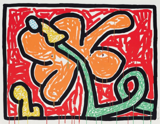 Keith Haring, Flowers V, 1990