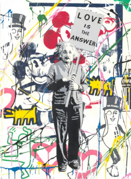 Mr. Brainwash, Einstein meets Mickey, 2019