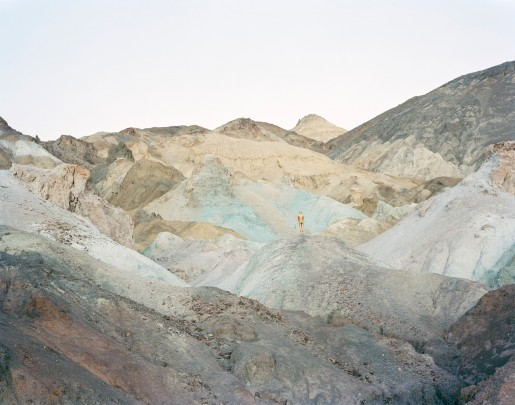 David Benjamin Sherry, Self-Portrait as Golden (Death Valley CA), 2013