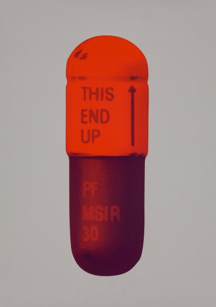 Damien Hirst, The Cure - Battleship Grey/Fizzy Orange/Berry, 2014