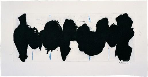 Robert Motherwell, Running Elegy II, Blue State, 1983