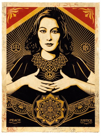 Shepard Fairey - Peace & Justice Woman