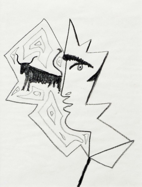 Jean Cocteau, Profile of a Man with a Bull, 1962