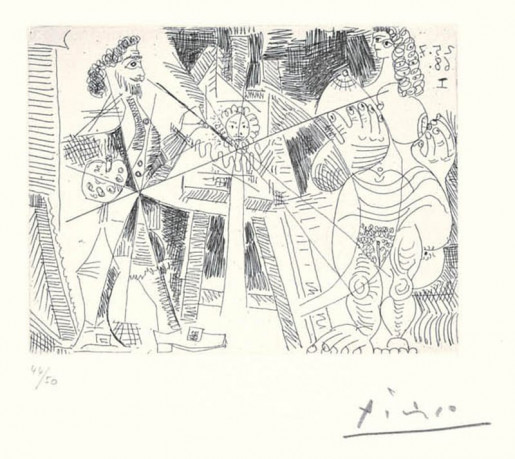 Pablo Picasso, 347 Series: No. 215, July 25, 1968, 1968