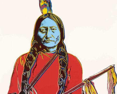Sitting Bull (FS IIIA.70) by Andy Warhol