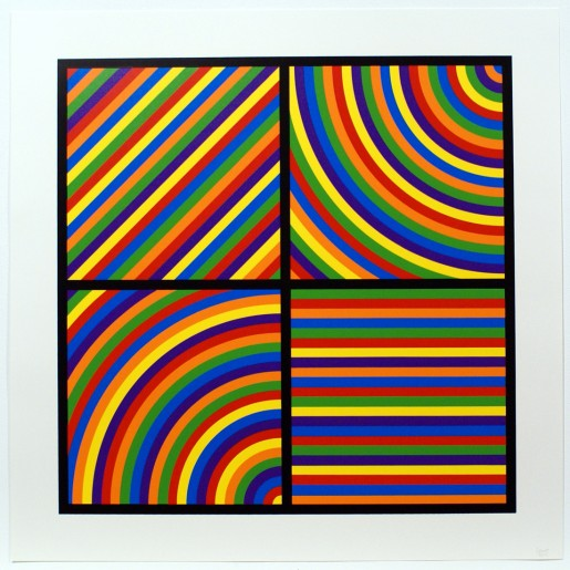 Sol LeWitt, Bands of Equal Width in Colour 6, 2000