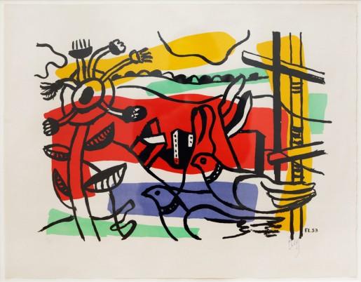 Fernand Léger, Composition aux deux oiseaux, 1954