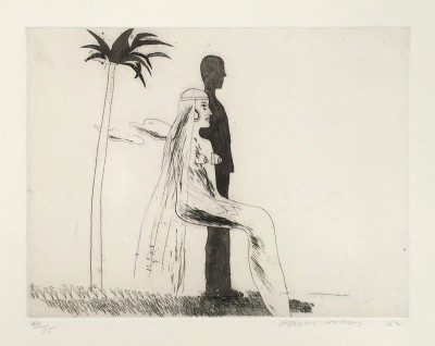 The Marriage by David Hockney