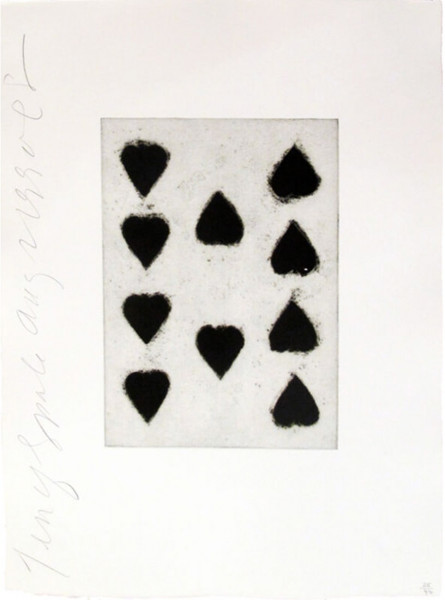 Donald Sultan, Playing Cards (Ten of Spades), 1990
