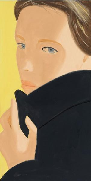 Alex Katz, Nicole (black coat), 2016
