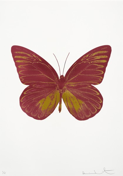 Damien Hirst, The Souls I - Loganberry Pink/Oriental Gold, 2010