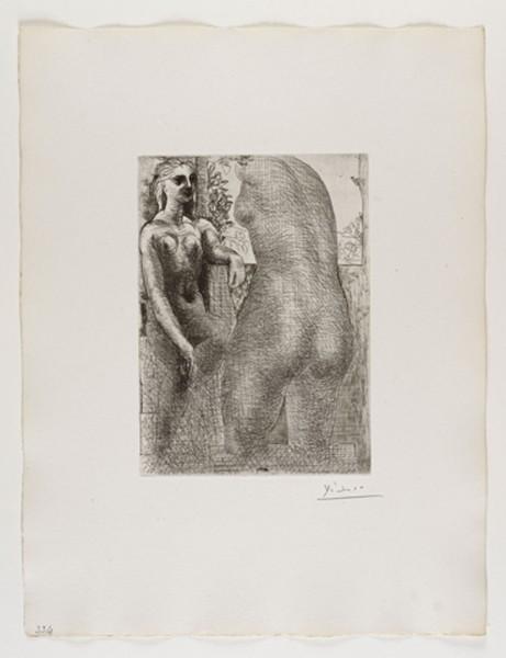 Pablo Picasso, Marie-Thérèse Regardant son Corps Sculpté (from the Suite Vollard), 1933