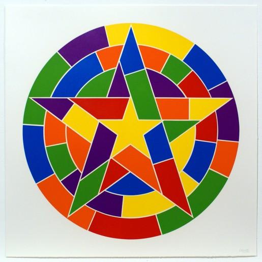 Sol LeWitt, Tondo 3 (5 point star), 2002
