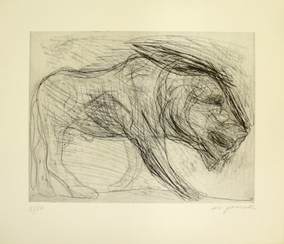 A.R. Penck - Löwe 3
