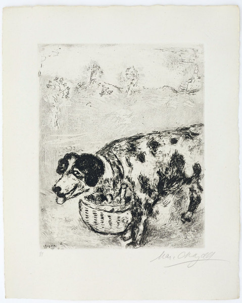 Marc Chagall, The Dog Who Carries his Master's Supper Around his Neck, 1927-1930