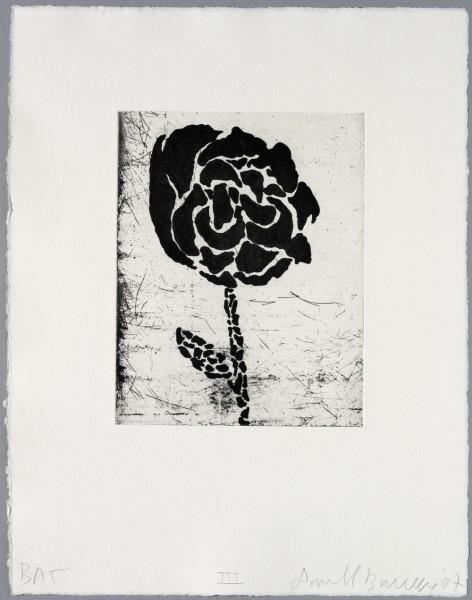 Donald Baechler, Five flowers III, 2007