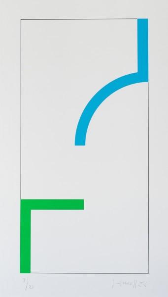 Gottfried Honegger, Sans Titre (Bleu/Vert), 2013