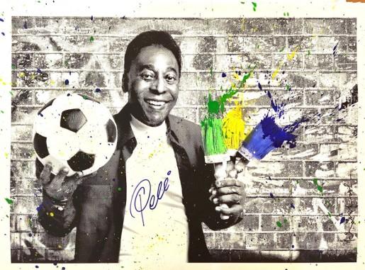 Mr. Brainwash, The King Pelé - Portrait, 2016