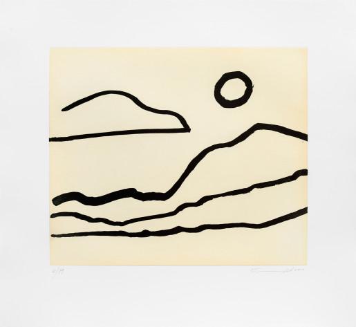Etel Adnan, Nuage et soleil, 2016