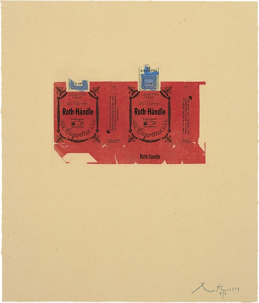 Robert Motherwell, Roth-Handle II (crimson), 1975