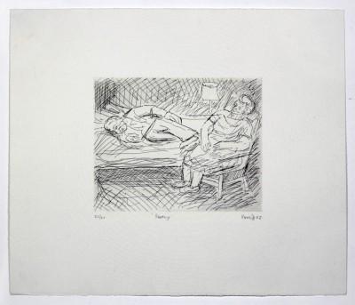 Leon Kossoff, Resting, 1983