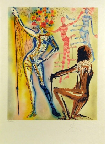 The Ballet of the Flowers (The Fashion Designer) by Salvador Dalí