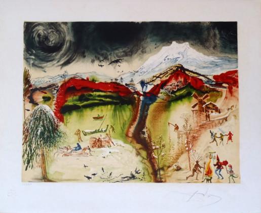 Salvador Dalí, Les Quatre Saisons: L'hiver, 1972