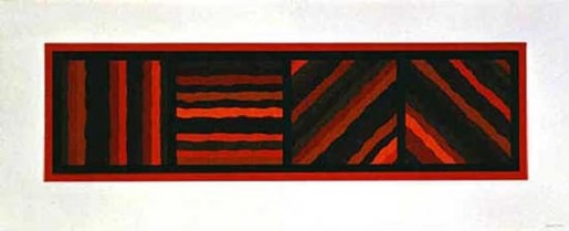 Sol LeWitt, Bands Not Straight in Four Directions (red), 1999