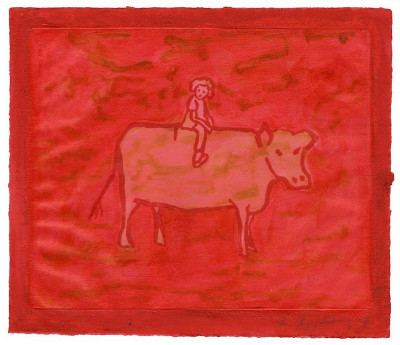 Ida Applebroog - Untitled (Girl with Cow)