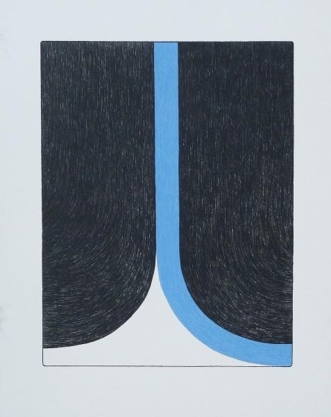 Ulrike Müller, Print (Franza) - Blue, 2014
