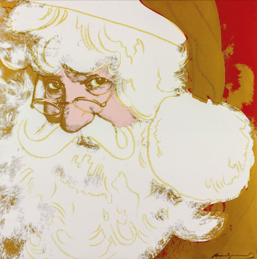 """Andy Warhol, Santa Claus (FS II.266) from the Portfolio """"Myths"""", 1981"""