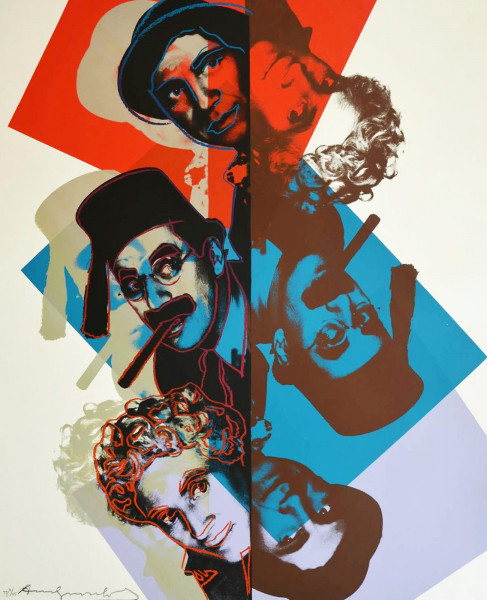 "Andy Warhol, The Marx Brothers (FS II.232), from the Portfolio ""Ten Portraits of Jews of the Twentieth Century"", 1980"