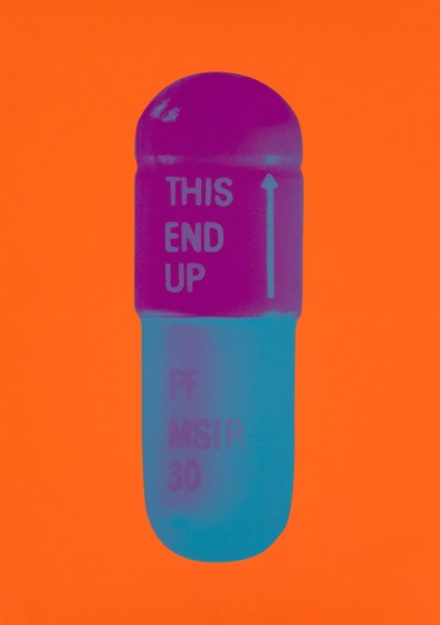 The Cure - Bright Orange/Orchid/Air Force Blue by Damien Hirst