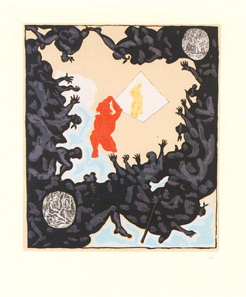 Jörg Immendorff, Ohne Titel / AT-Spiegelgrafik, 2001