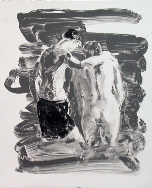 Eric Fischl, Two Bathers, Black and White, 2007