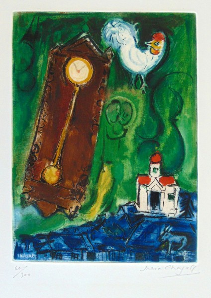 Marc Chagall, The Rooster and the Clock, 1956