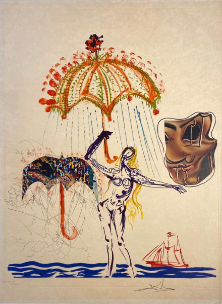 Salvador Dalí, Anti-Umbrella with Atomized Liquid, 1975-1976