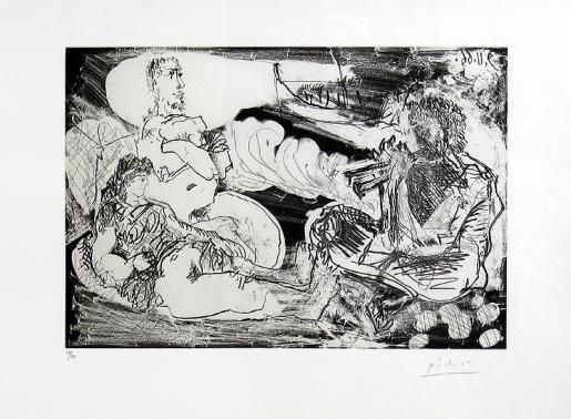 Pablo Picasso, Le Joueur de Diaule, 1966