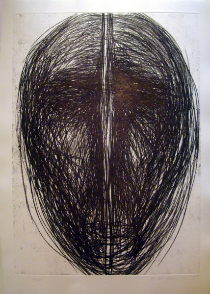 Magdalena Abakanowicz, Katarsis (single panel from Katarsis portfolio), 1985