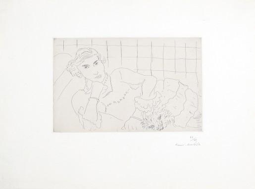 Henri Matisse, Jeune femme et son chien, 1929