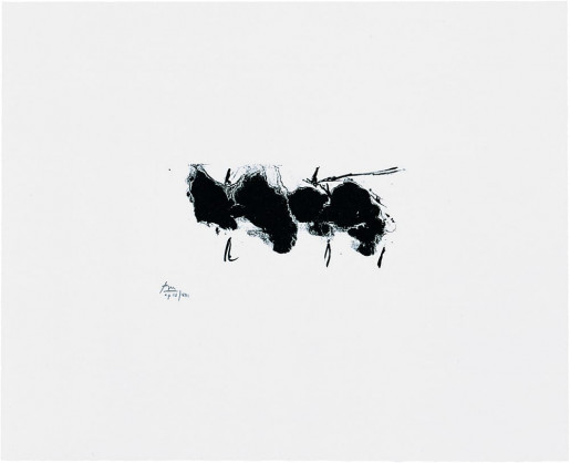 Robert Motherwell, Automatism Elegy (State I White), 1980