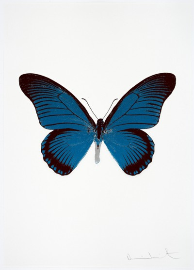 Damien Hirst-The Souls IV - Turquoise/Burgundy/Silver Gloss