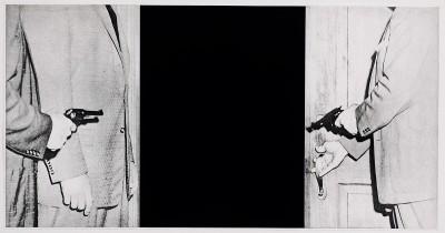 "Large Door from ""Hegel's Cellar"" Portfolio by John Baldessari"