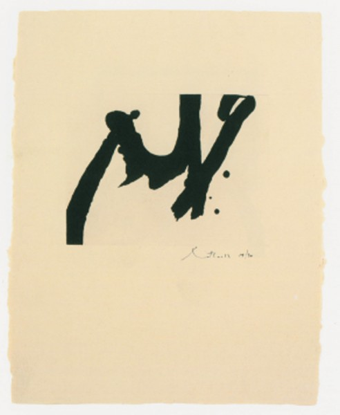 Robert Motherwell, Calligraphic Study IV, 1976